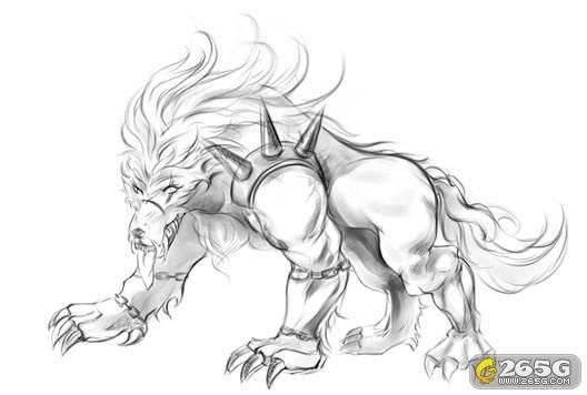 狼素描画法步骤图解