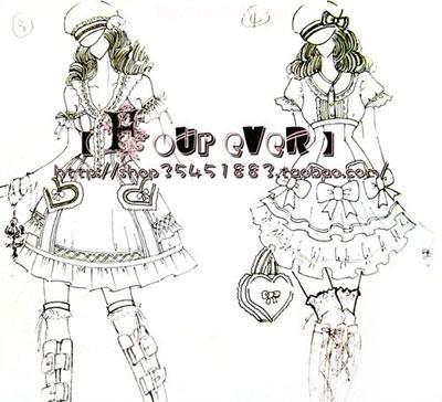 设计图线稿------★   这张是服装效果图课的童装设计,我个人很喜欢叻