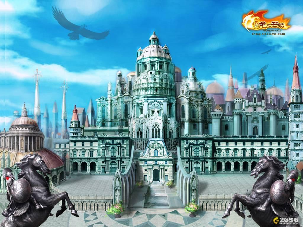 欧式城堡 游戏场景