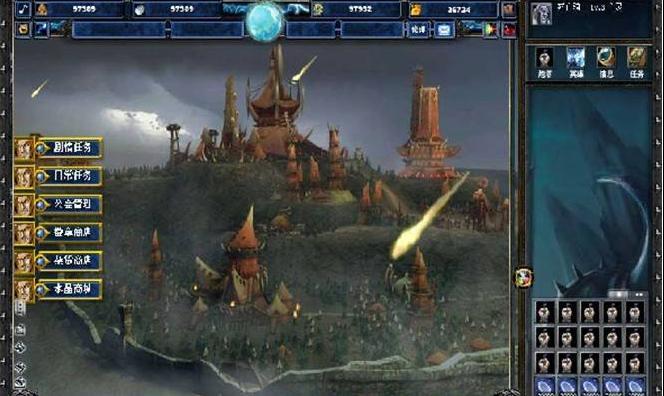 《永恒塔防》界面说明-主城图