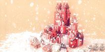 我的世界手机版圣诞节的城堡 我的世界建筑存档下载