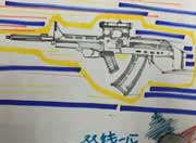 生死狙击玩家手绘-95式狙击