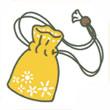 青蛙旅行黄色护身符