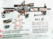 ÉúËÀ¾Ñ»÷Íæ¼ÒÊÖ»æ-M16»úе¼â±ø
