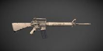 绝地求生刺激战场M16A4水泥系列皮肤