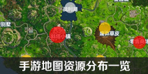 堡垒之夜手游地图资源分布一览 地图资源攻略汇总