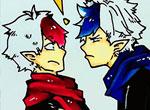 赛尔号手绘 盖亚和霸道哥哥
