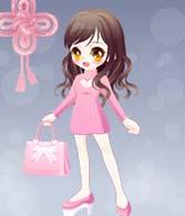 奥比岛幸运的粉色套装