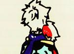 赛尔号手绘 瑞尔斯哥哥的抱抱