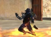 生死狙击游戏截图-在火海中仰天