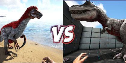 方舟生存进化恐龙对比:霸王龙VS镰刀龙