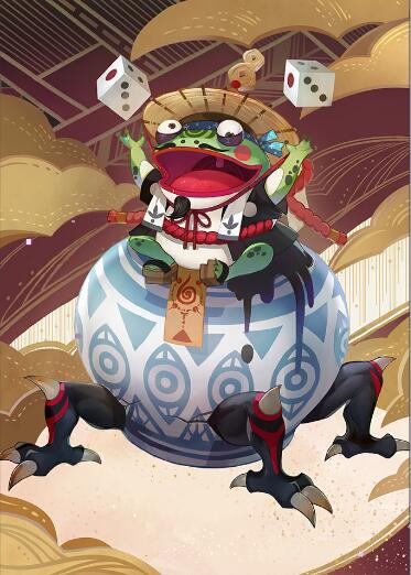 阴阳师百闻牌青蛙瓷器