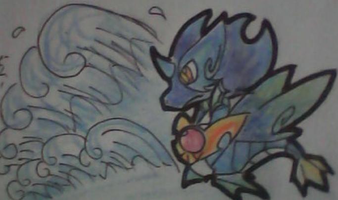 奥拉星神龙使手绘