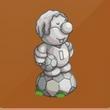 摩尔庄园豪华版足球摩尔雕像