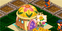 摩尔庄园豪华版怎么一键收获鲜花