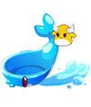 奥比岛可爱小蓝鲸坐骑