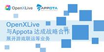 �����手 OpenXLive宣布�cAppota�_成�鹇院献�
