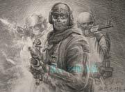 生死狙击玩家手绘―幽灵特警