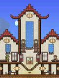 泰拉瑞亚古典风房子建筑 商人古典建筑图