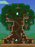 泰拉瑞亚树屋建筑 森林女神树木房屋建筑图纸