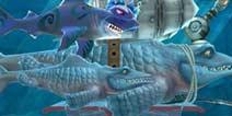 饥饿鲨:进化沧龙可以吃掉皱鳃鲨吗 对比解析