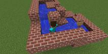 我的世界pc版螺旋水梯怎么做