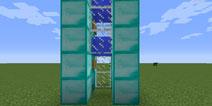 我的世界pc版垂直水梯怎么做