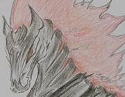 西普大陆手绘 自创 蹋火骑