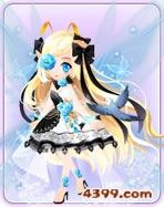 小花仙蓝色冰姬套装