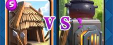 部落冲突皇室战争哥布林小屋VS烈焰熔炉