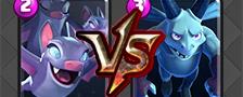 部落冲突皇室战争蝙蝠vs亡灵