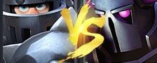 部落冲突皇室战争超级骑士VS皮卡超人