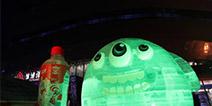 球球大作战统一冰红茶 圣诞节巨型冰雕登场
