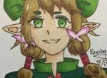 赛尔号手绘 茉蕊儿的微笑