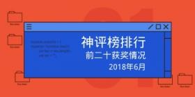 评测师2018年6月神评榜获奖情况