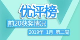 评测师2019年1月第二周优评榜获奖情况