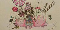 第五人格手绘盲女蛋糕