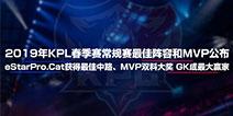王者荣耀2019年KPL春季赛常规赛最佳阵容和MVP公布