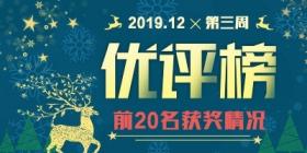评测师2019年12月第三周优评榜获奖情况