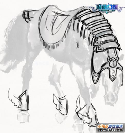 白马/这段时间一直在画一个原设,名字暂定为银翼飞马,四眼我很喜欢...
