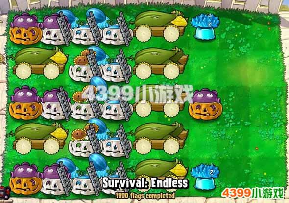 植物 阵型/4399植物大战僵尸 1000flag樱桃7炮阵型