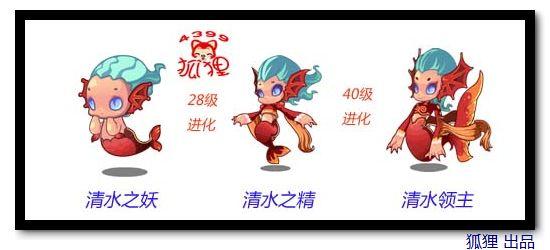 洛克王国清水之妖进化图