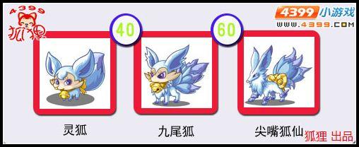 洛克王国灵狐进化图
