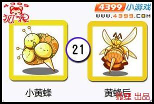 洛克王国小黄蜂进化图