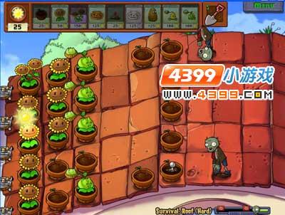 植物大战僵尸屋顶困难模式