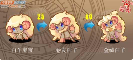 洛克王国白羊宝宝进化图