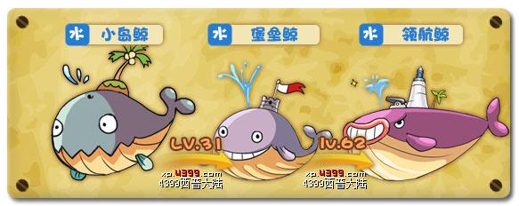 西普大陆小岛鲸进化图