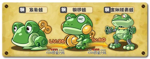 西普大陆发条蛙进化图