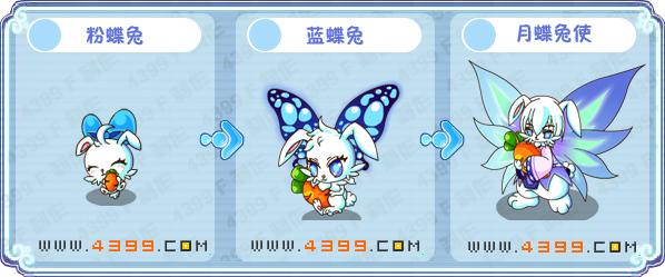 卡布西游粉蝶兔练级 月蝶兔刷什么