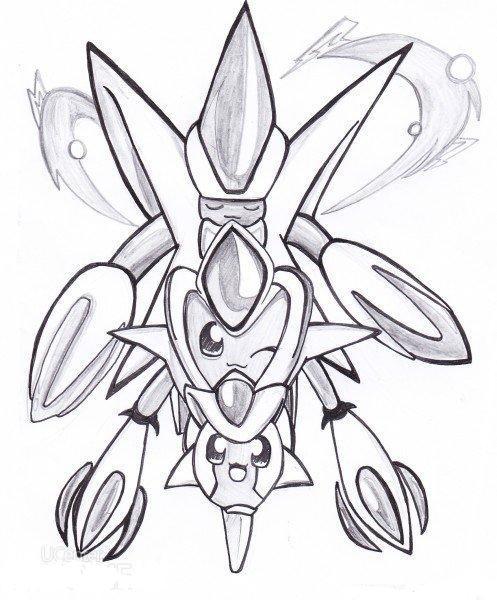 手绘变形虫的结构图